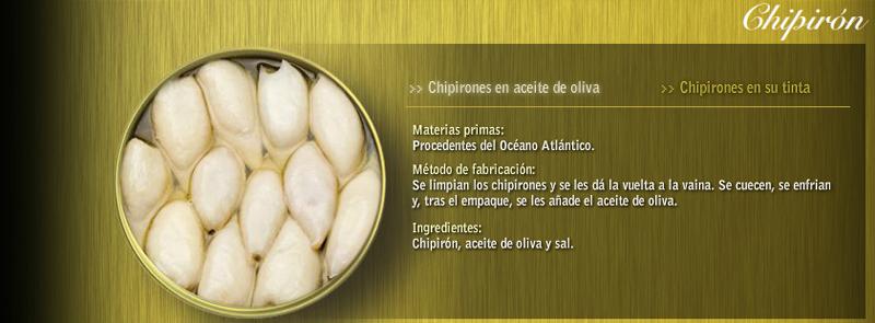 Chipirón en aceite Conservas Ramón Peña