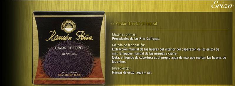 Caviar de erizo de mar Conservas Ramón Peña