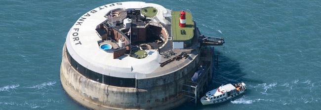 hotel en fuerte marítimo Solent Fort