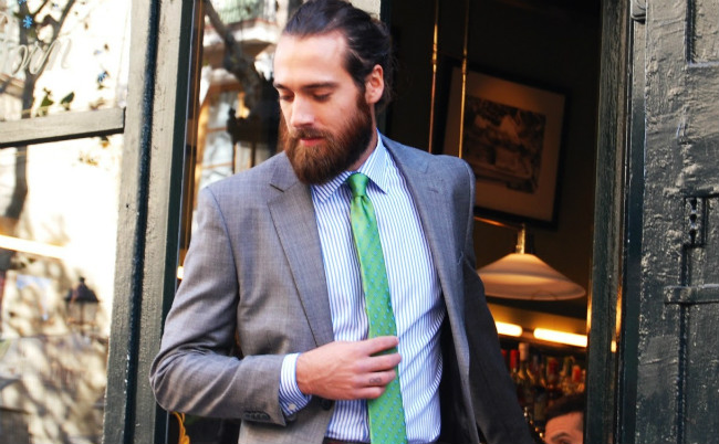 la moda barba en ejecutivos