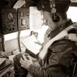 Instrumento medición del tiempo en un bombardedo en los años 30-40