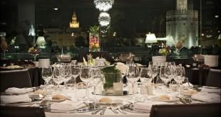Abades Triana, restaurante panorámico en calle Betis. Foto de su web.
