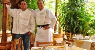 Los cocineros, en el patio de Don Fernando (imagen de Don Fernando)