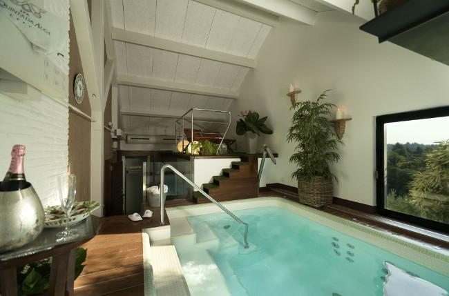El spa privado, el lugar perfecto para relajarse en pareja.