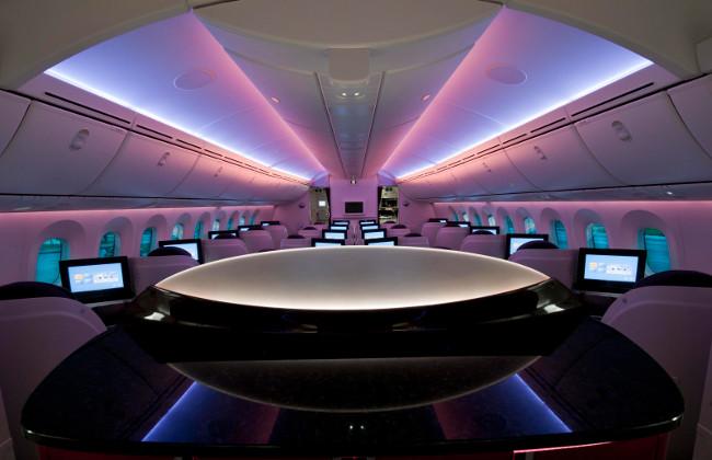 El interior del nuevo avión, más espacioso y confortable.
