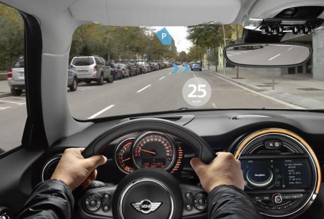 Los gráficos desplegados por el dispositivo no interrumpen ni dificultan la conducción.