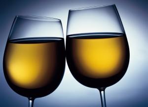 KLM dos copas de vino