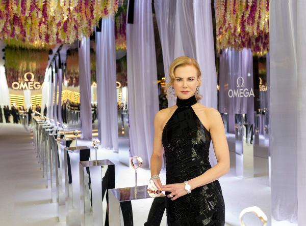 Nicole Kidman, espectacular en la inauguración de la exposición de Omega, Her Time, en Milán.