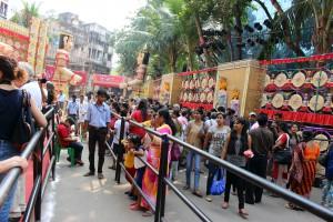 pasear por los pandals Calcuta
