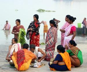 KALA BOU SNAN en Durga Puja