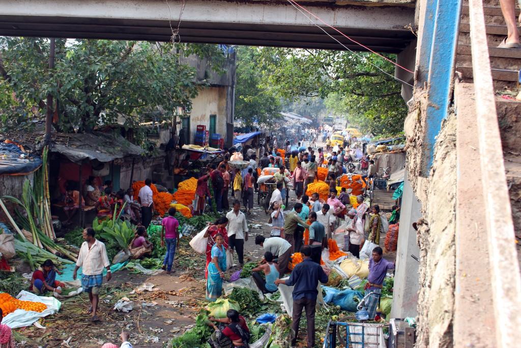 Vista del Mercado de las Flores, Calcuta. © Luis Martín-Crespo