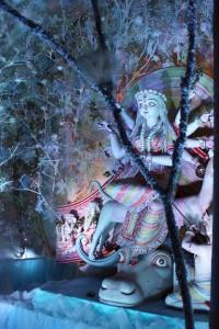 diosa Durga en pandal Pally Club Haridevpur 41
