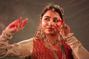 bailarina bailes por Durga Puja