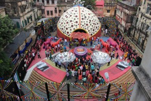 Pandal en plaza de Calcuta