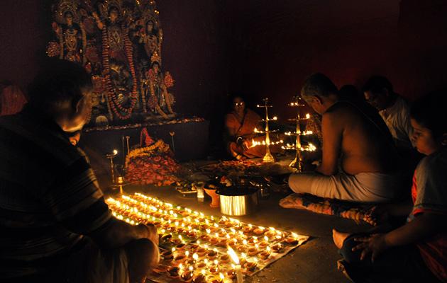 ritual SANDHI PUJA de Durga Puja