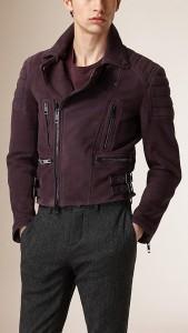 Piel Nobuk para una chaqueta motera de Burberry