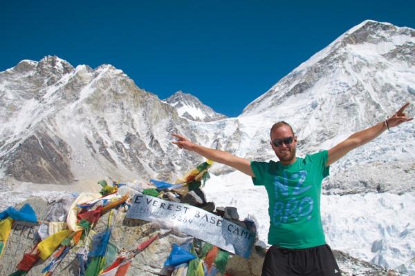 Imagen  de Intrepid Travel en el Everest.