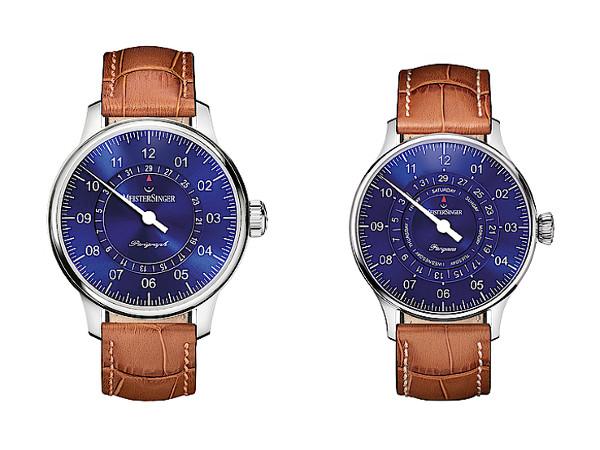 El Pangaea en azul a la derecha. A la izquierda, el modelo Perigraph.