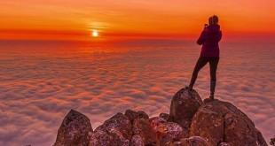 Nubes y sol en Tasmania
