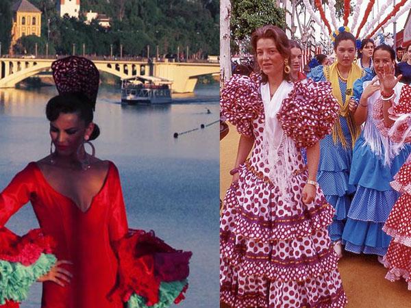 Traje nuevo versus traje antiguo. Fotos: Sevilla Ciudad y Nick Kenrick.