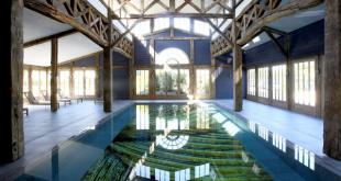 En la piscina de Les Sources de Caudalie nos pasaríamos 90 minutos... y la prórroga.