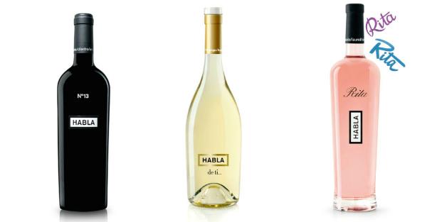Tres vinos, tres grandes ideas. Imagen: Bodegas HABLA.