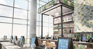 Diseño de pizzería para la terminal C del Aeropuerto de Houston.