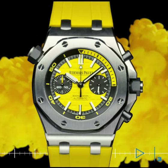 Royal Oak Offshore Diver amarillo: a nosotros nos encanta su vitalidad.