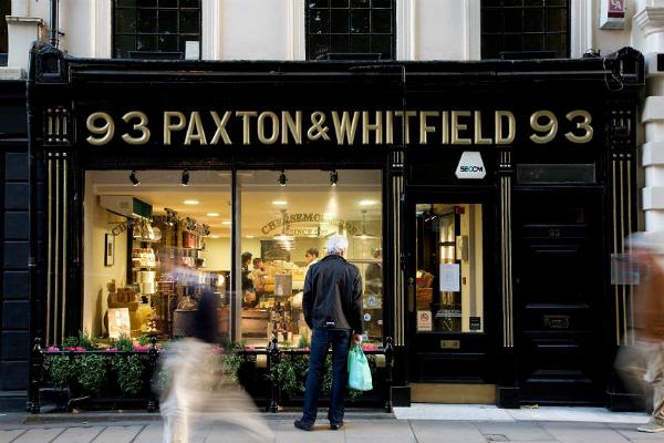 Paxton & Whitfield: quesos de lujo con siglos de historia. Imagen de su web.