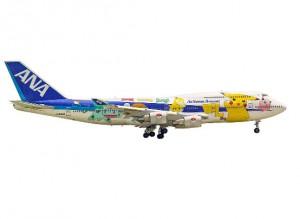 B747 de ALL Nippon Airways librea Pokemon