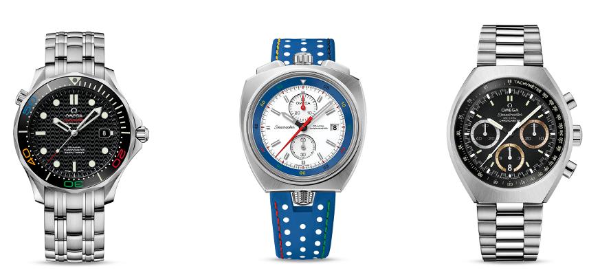 Tres relojes para los primeros Juegos Olímpicos de Sudamérica.