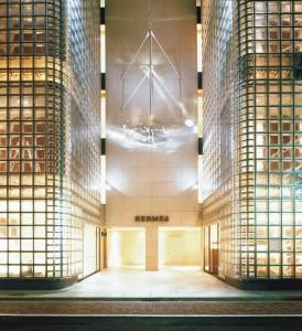 Edificio de la Maison Hermès en Ginza