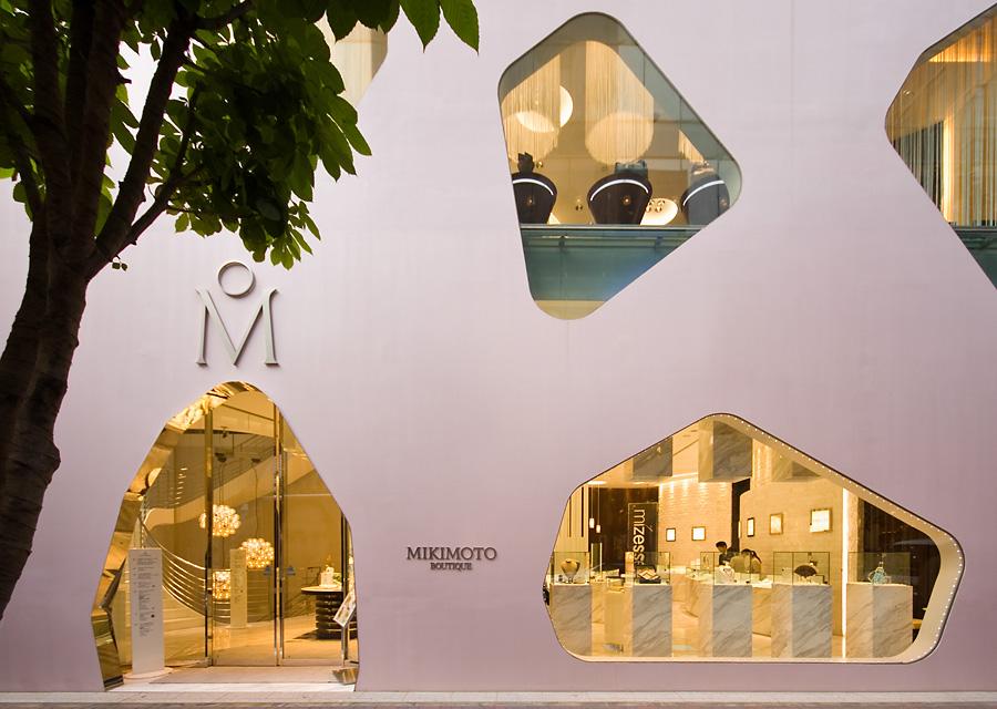Edificio en Ginza de Mikimoto Pearls