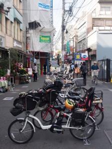 Las bicis aquí es el medio de transporte favorito.