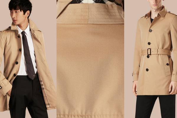 Somos unos clásicos, y nos encanta este tench coat de botonadura simple de Burberry.