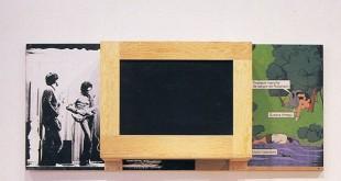 Txomin Badiola. Bañiland 6, 1990-1992. Pintura, madera, construcción, plástico y serigrafía. Colección A. Trullenque.