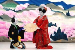 Escena de kabuki