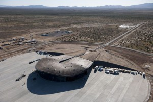 El todavía no inaugurado aeropuerto Spaceport America de Upham, Estados Unidos.