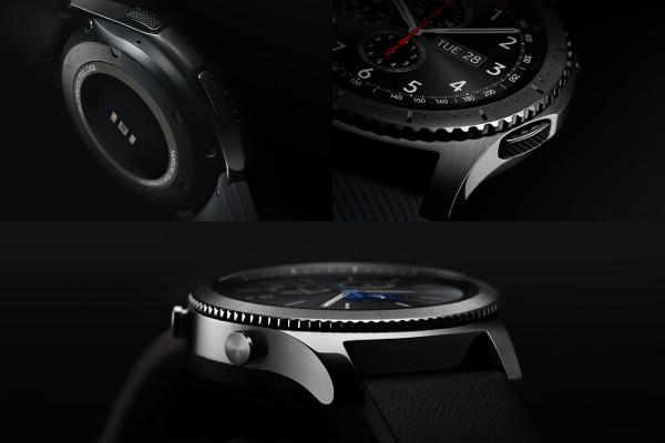 Vista de detalle del Samsung Gear S3. Imagen de la web de Samsung.