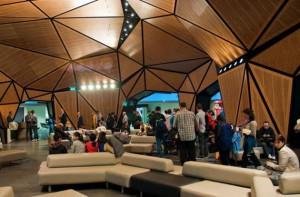 Interior de la nueva terminal de Wellington, Nueva Zelanda.