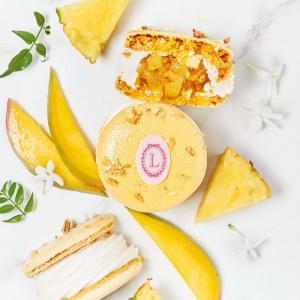 Ladurée es famoso por sus macarons. En la foto, macaron de chantilly al té verde jazmín o de compotée de piña y mango.