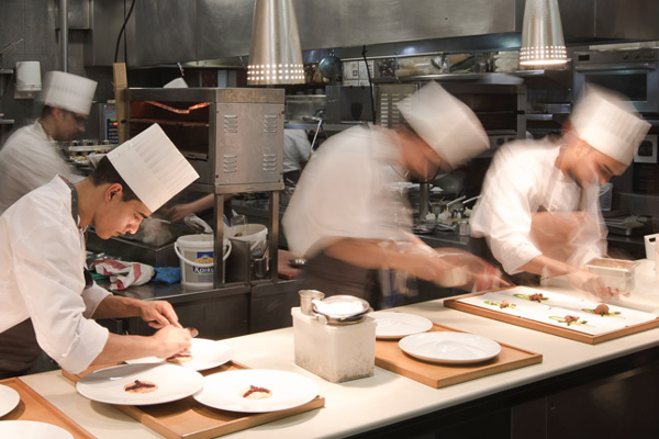 Las cocinas de Echaurren. Imagen de su web.