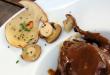 Un delicioso plato con setas de El Fogón de Salvador en Soria.
