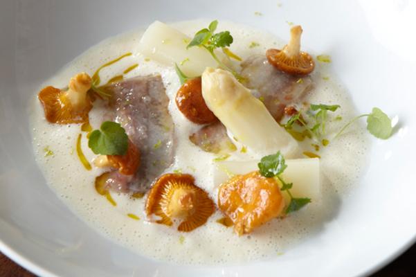 Un plato de setas de Hisop. Imagen de su web.