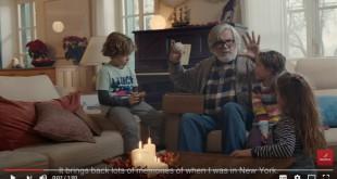 """Escena del anuncio de Navidad de Iberia de este año: """"La caja""""."""