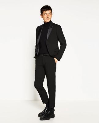 Ajustado y moderno: así es el tuxedo de Zara.