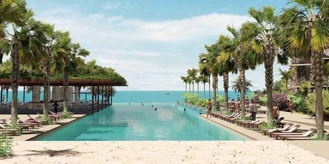 Las piscinas infinity: mimetizarse con el Mar Caribe.