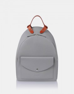 La mochila de Jil Sander, en gris antracita.