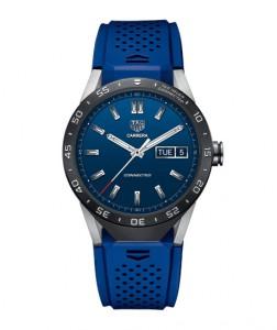 El reloj en azul.