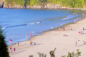 La playa de Bastiagueiro. Imagen de Turismo de Galicia.